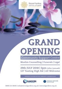Grand opening of Muslim counselling community centre