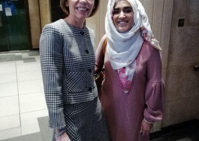 Ayesha Aslam with Dr Van Dahlen
