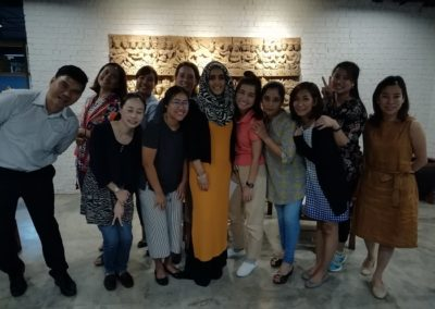 The team in Thailand on Islamic counselling training