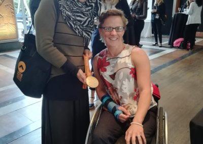 Ayesha Aslam with Para Olympics