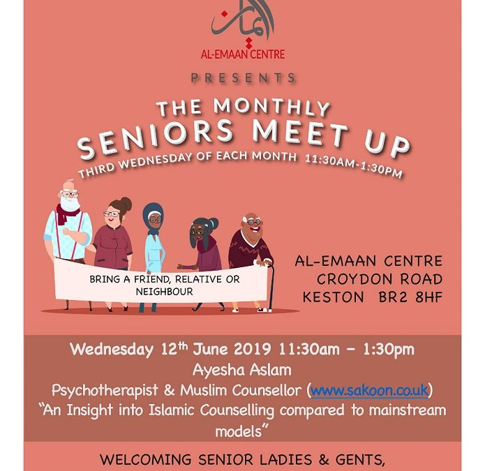 Psychotherapist and Muslim Counsellor at the Seniors Meet up