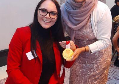 Ayesha Aslam with Lauren Rowles (Para Olympics Gold)