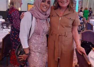Ayesha Aslam with Loarriane Kelly Women of the year