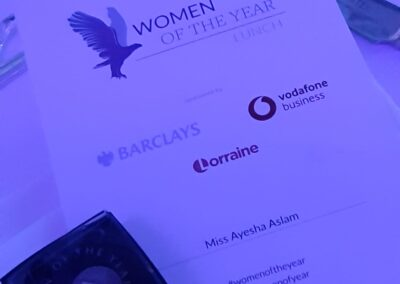 lunch at Women of the year